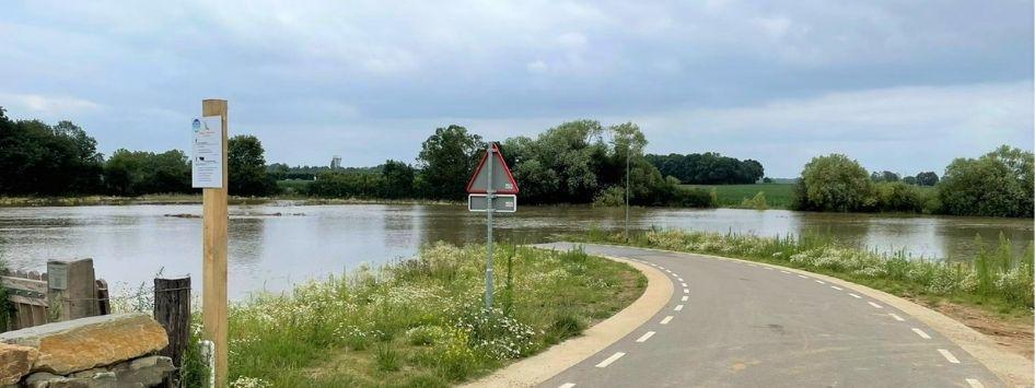Hoogwater en Bewegwijzering in Limburg